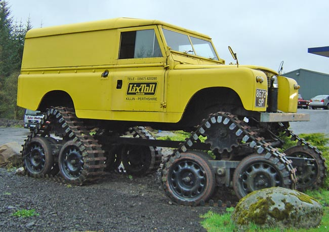 Seriously Modified Land Rovers